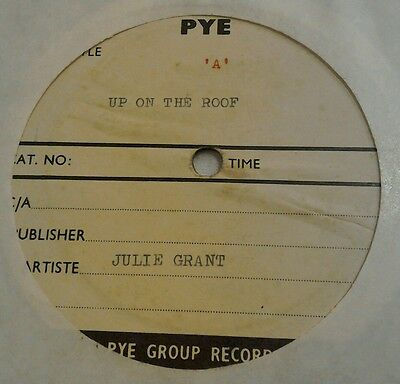 RARE PYE ACETATE 45 Julie Grant Up On The Roof/ When You Think About Love 1962