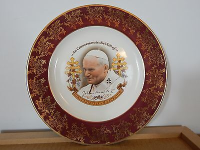 A Plate To  Commemorate Pope John Paul II vist To Uk 1982 by Weatherby Giftwear