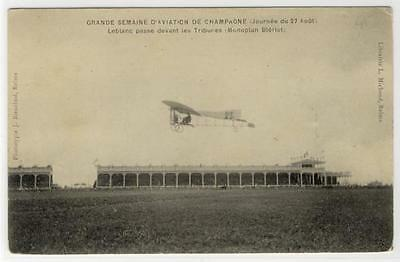AK Monoplan Bleriot, Grande Semaine d´Aviation de Champagne
