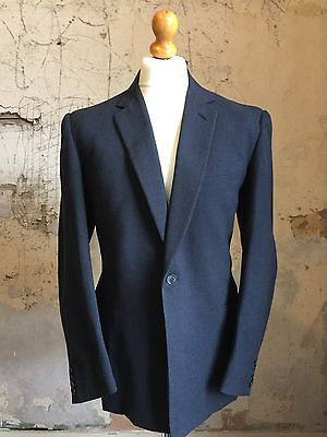 Mens Vintage Bespoke 1950's 1960's Grey Single Button Suit Size 40