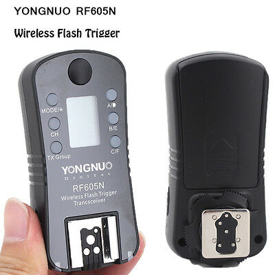 YONGNUO RF605N Wireless LCD Screen Speedlite Flash Trigger Transceiver For Nikon