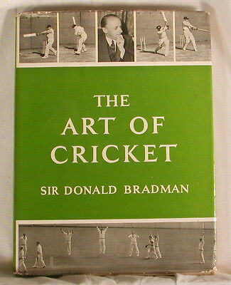 """Bradman signed """"The Art of Cricket""""1st Edition 1958 ,independently authenticated"""