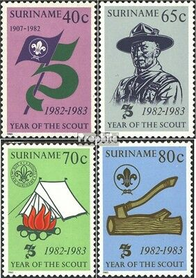 Suriname 1017-1020 (complete issue) unmounted mint / never hinged 1983 Scouts
