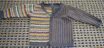 Natalys Baby Boys French Wool Blend Cardigan  Sz 6 Months