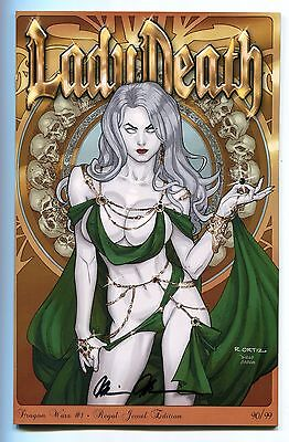 Lady Death Dragon Wars #1 Shrewed Jeweled Variant Richard Ortiz Cover Signed