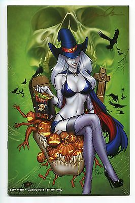 Lady Death All Hallows Evil #1 Hallowicked Jeweled Variant Mike Debalfo Cover