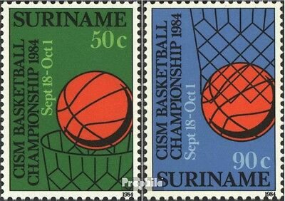 Suriname 1098-1099 (complete issue) unmounted mint / never hinged 1984 Basketbal
