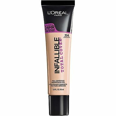 LOREAL Infallible Total Cover 24HR Foundation NATURAL BUFF 304 NEW