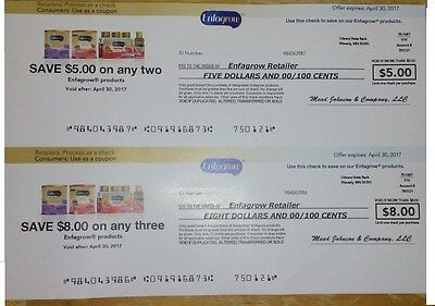 Enfagrow Coupons $8 on three, and $5 on two
