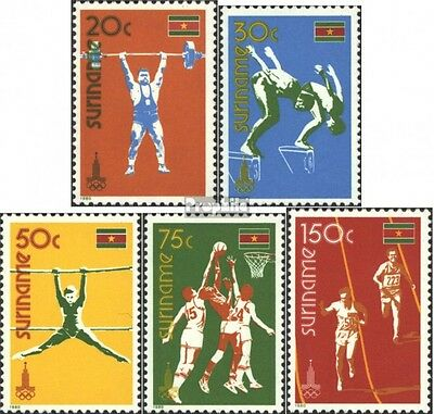 Suriname 905-909 (complete issue) unmounted mint / never hinged 1980 Summer