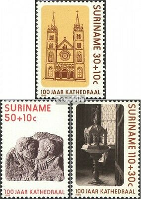 Suriname 1177-1179 (complete issue) unmounted mint / never hinged 1986 Cathedral