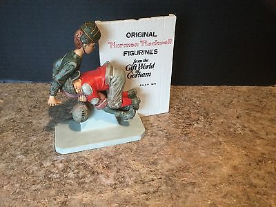 Norman Rockwell Football Tackle Figurine GORHAM 1976 Store Display