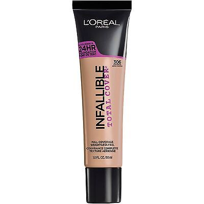LOREAL Infallible Total Cover 24HR Foundation BUFF BEIGE 306 NEW