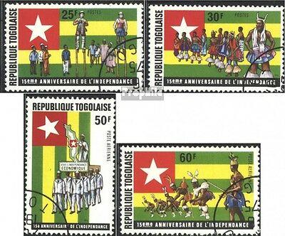 Togo 1098A-1101A (complete issue) used 1975 15. Anniversary D.