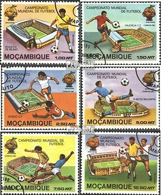 Mozambique 788A-793A (complete issue) used 1981 Football-WM ´82