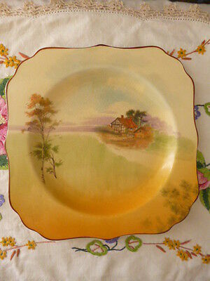 Vintage antique Royal Doulton plate dinner ware English Cottages D4957 porcelain
