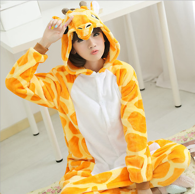 Adult Unisex Kigurumi Pajamas Animal Cosplay Costume Onesie Sleepwear Deer