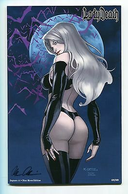 Lady Death Rapture #1 Blue Moon Edition Variant Richard Ortiz Cover Signed /69