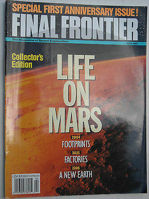 April 1989 Special First Anniversary Issue Final Frontier magazine