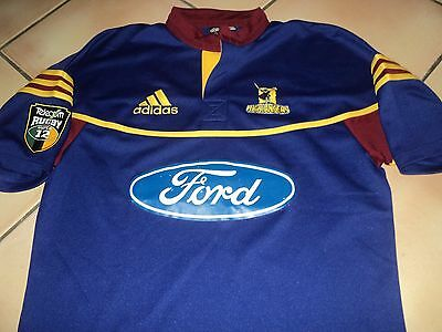 Otago Highlanders Vintage Super 12 Rugby Jersey Shirt Medium All Blacks NZ