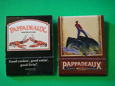 2 Packs Matches Matchbook ~ Pappadeaux Seafood Kitchen  ^  Fish, Oysters, Shrimp