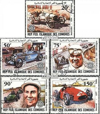Comoros 646-650 (complete issue) used 1981 large Price of Franc