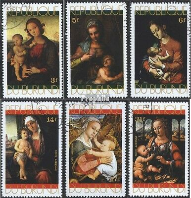 Burundi 798A-803A (complete issue) used 1971 christmas: Paintin