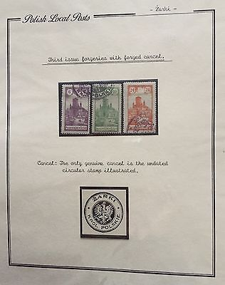 Poland Polish Local Posts 1918 Used Mlh* For Description Look At The Picture