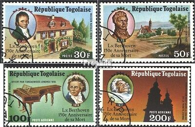 Togo 1217A-1220A (complete issue) used 1977 150. Death of Beeth