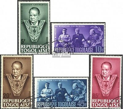 Togo 472A-476A (complete issue) used 1965 Death of Winston Chur