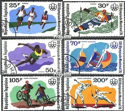 Togo 1168A-1173A (complete issue) used 1976 olympic. Summer, Mo