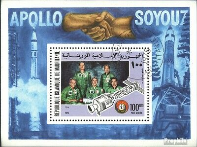 Mauritania block13 (complete issue) used 1975 Space Company