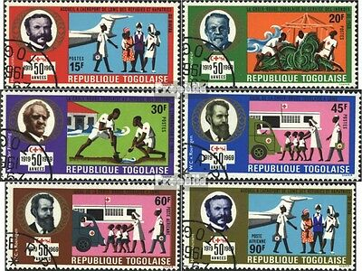 Togo 728A-733A (complete issue) used 1969 red cross societies