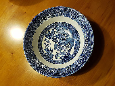 Churchill Blue Willow Round Vegetable Bowl - England