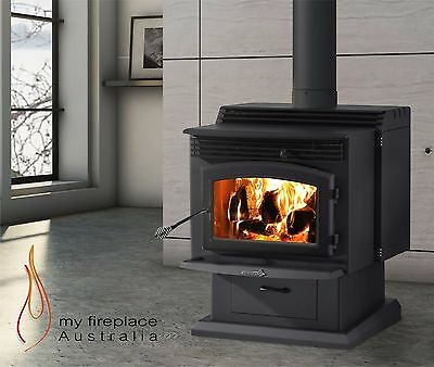 Wood Heater Enerzone Solution 3.4 Pedestal Fireplace