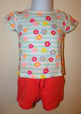 NEW Baby GAP Coral Orange Cotton Shorts Girls Size 3-6 Months  + Special offer