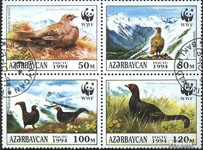 Aserbaidschan 161-164 block of four (complete issue) used 1994