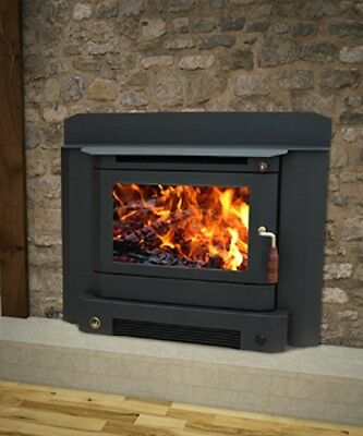 Wood Heater Ecomaxx Classic Inbuilt - Metallic Black Fireplace