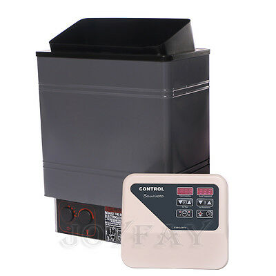 8 KW Electric Wet / Dry Sauna Heater Stove with Outlet Digital Controller