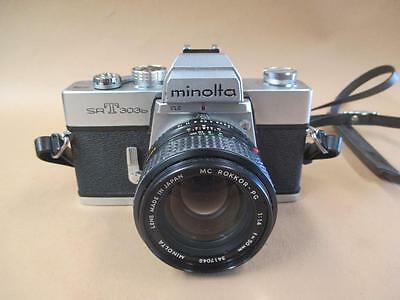 Camera, Minolta, SRT 303b, 35 mm, Rokkor lens, vintage