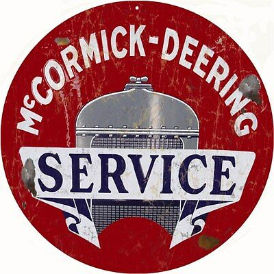 McCormick Deering Service Station and Gas Vintage Look Reproduction Metal Sign