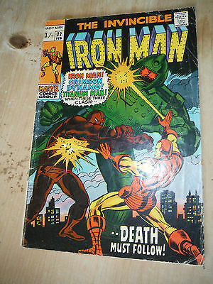Iron Man No 22 1970 Solid Complete Low Grade Reading Copy.
