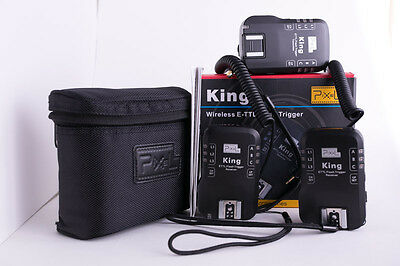 Pixel King Wireless E-TTL Flash Trigger  Canon - 2 receivers - one transmitter