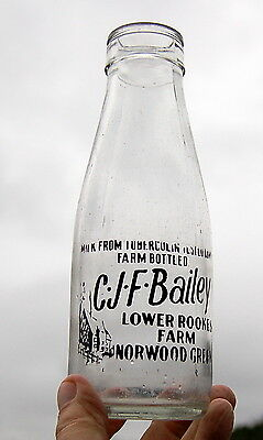 nice old BAILEY of NORWOOD GREEN milk bottle : dairy