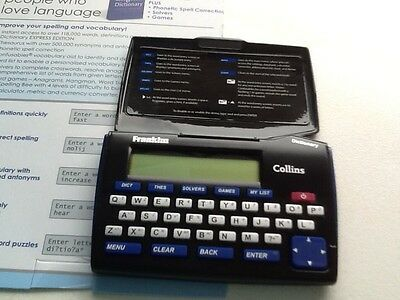 Franklin Collins English dictionary Express Edition with thesaurus DMQ221