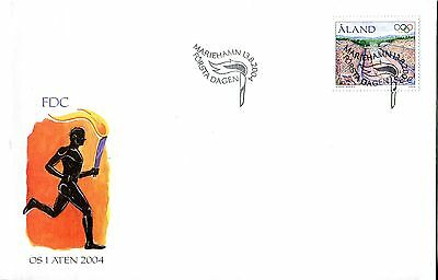 Aland 2004 Olympic Games FDC
