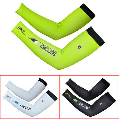 Unisex Bike Bicycle Cycling UV Sun Protection Cuff Sleeves Arm Warmer Cover NEW