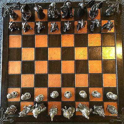 Graeme Anthony Lord / War Of The Rings Chess Set and Board