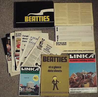 Beatties OO/HO British Outline 1978 Catalogue Data Sheets + LINK Building System