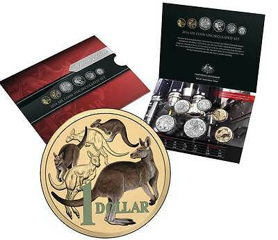 2014 Six Coin Uncirculated Year Set - Colour Printed One Dollar Coin